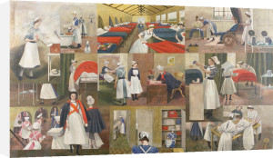 St Thomas's Hospital In Evacuation Quarters by Evelyn Mary Dunbar