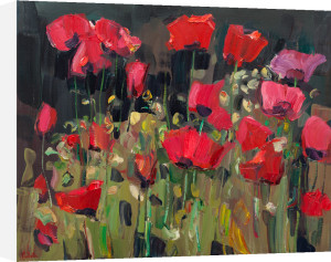Poppies in the Garden by James Fullarton