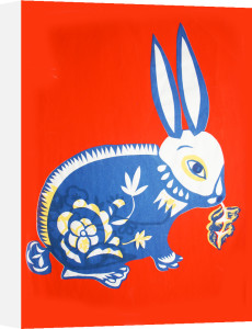 Blue Rabbit by Adeline Meilliez