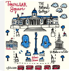 Trafalgar Square by Julia Gash
