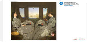 The Travelling Companions by Augustus Leopold Egg