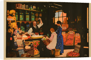 Empire Marketing Board - Country Grocer's Shop by Fred Taylor