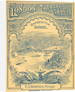 London Theatre of Varieties programme, Shoreditch 1894 by Henry Good