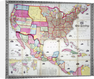 A New Map of Our Country, Present and Prospective, USA, 1855 by The National Archives