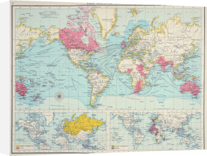 The British Empire, The Citizen's Atlas, 1912 by J G Bartholomew