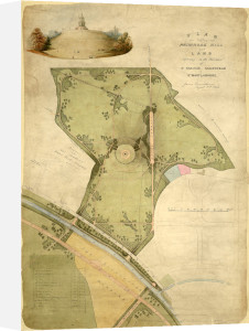 Plan for Primrose Hill, 1841 by Sir James Pennethorne
