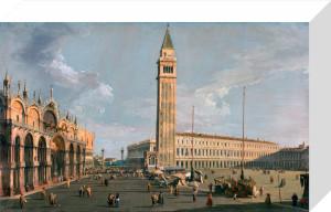 The Piazza di San Marco, Venice by Giovanni Canaletto