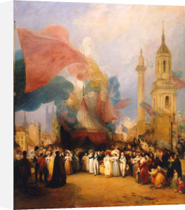 The Royal Procession at the Opening of the New London Bridge, 1 August 1831 by George Jones