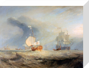 Admiral von Tromp's Barge at the Entrance of the Texel, 1645 by Joseph Mallord William Turner