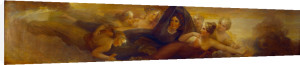 Night, with the Pleiades (Library-Dining Room ceiling painting, 4 of 6) by Henry Howard