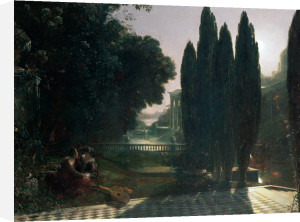 Scene from Shakespeare's 'The Merchant of Venice': Belmont, in the Garden of Portia's House, Lorenzo and Jessica, Act V, Scene 1 by Francis Danby