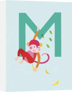 M is for Monkey by Sugar Snap Studio