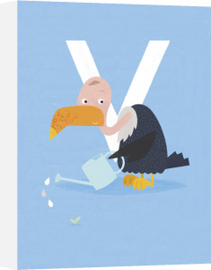 V is for Vulture by Sugar Snap Studio