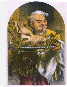 Bringing in the Boar's Head by John Gilbert