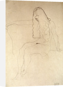 Seated Nude, her Face Covered by her Hair, 1907 by Gustav Klimt