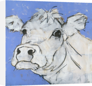 Cow on Lilac 2 by Nicola King