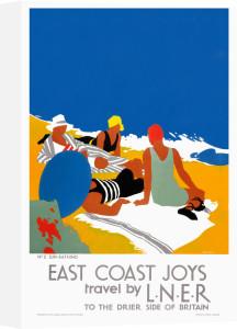East Coast Joys No 2 - Sun-bathing by Tom Purvis