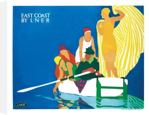 East Coast by LNER by Tom Purvis