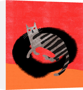 Cat in Bed by Madeleine McClellan