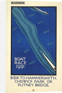 Boat Race 1921 by Charles Paine