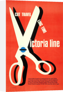 Cut travelling time; Victoria line, 1969 by Tom Eckersley