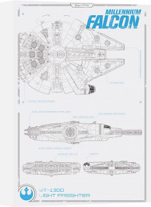 Star Wars Episode VII - Millennium Falcon Plans by Anonymous