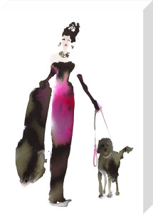 What to Wear When Walking the Dogs - Pink Dress by Bridget Davies