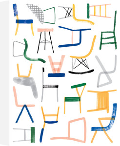 Chairs, 2015 by Charlotte Trounce