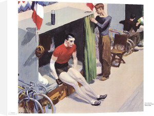 Bicycle Rider, 1937 by Edward Hopper