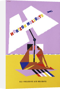 Horizon Holidays - Sunshade by Abram Games