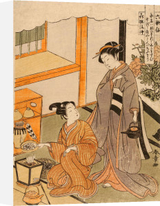 Young lovers preparing tea by Katsukawa Shuncho