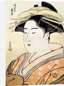 The Courtesan Hanaogi of Ogi-ya by Katsukawa Shuncho