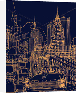 New York - Night Time by David Bushell
