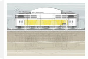 London Royal Festival Hall by Linescapes