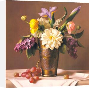 Flowers in an Indian Vase by Ken Marlow