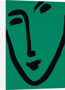 Facial-Maschera (green), 1951 (Silkscreen print) by Henri Matisse
