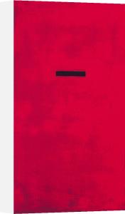 Untitled, red (Silkscreen print) by Jurgen Wegner