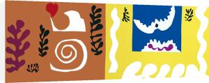The Bird And The Shark, 1947 (Silkscreen print) by Henri Matisse