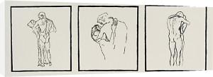 Love couples, 1905 (Silkscreen print) by Gustav Klimt