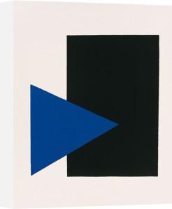 Black rectangle, blue triangle by Kazimir Malevich