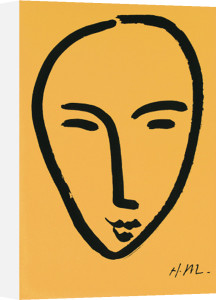 Visage sur fond jaune (Silkscreen print) by Henri Matisse