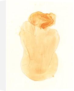 Femme nue assise et de dos, 1899 (Silkscreen print) by Auguste Rodin