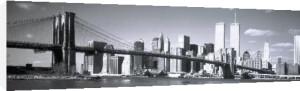 Hudson River and Brooklyn Bridge, New York by Jeff Lepore