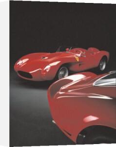 Ferrari Testarossa, 1958, Ferrari GTO, 1962 (small) by Silvano & Paolo Maggi