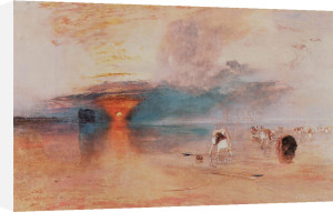 Calais Sands at Low Water by Joseph Mallord William Turner