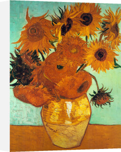 Sunflowers on Blue by Vincent Van Gogh