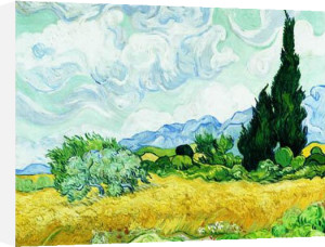 A Cornfield with Cypresses by Vincent Van Gogh