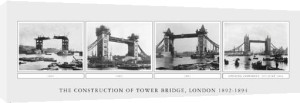 The Construction of Tower Bridge, London 1892-94 by B & W Collection