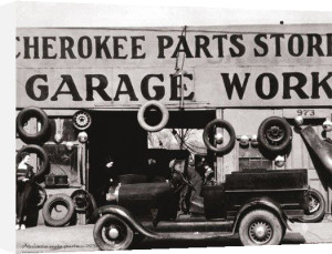 Atlanta Auto Parts, 1936 by B & W Collection