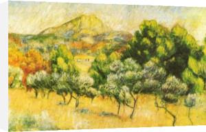 Mont Sainte-Victoire by Pierre Auguste Renoir